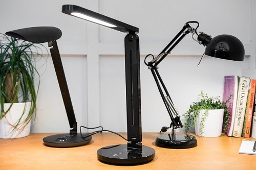 Three Different Desk Lamps