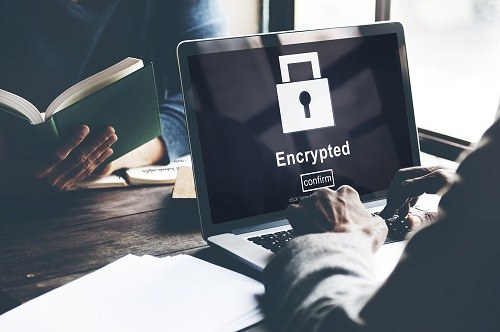 Encryption On Laptop Screen