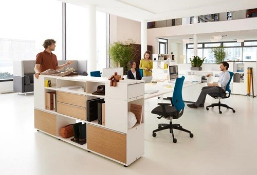 Group Of People In Modern Office
