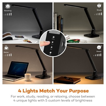 TaoTronics LED Dimmable Desk Lamp 4 Lights Levels