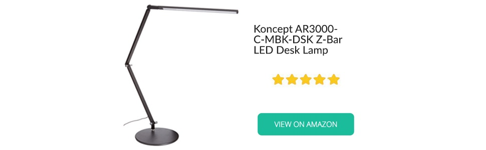 Koncept AR3000 C-MBK DSK Z Bar LED Desk Lamp